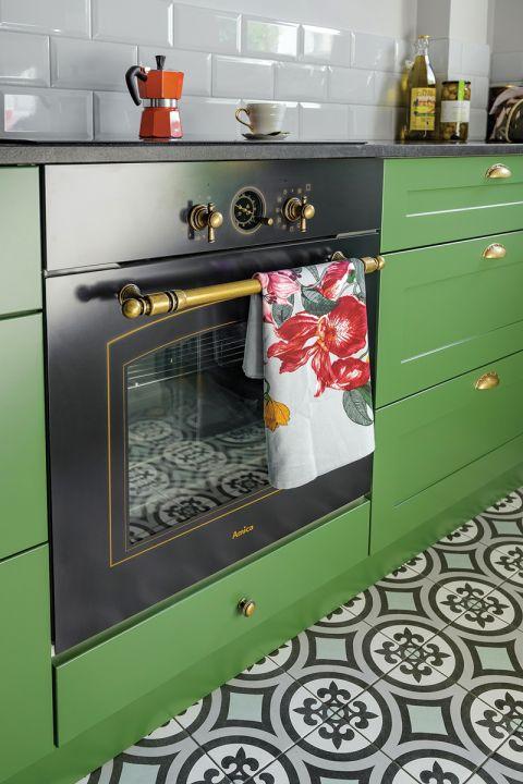 zielone szafki kuchenne