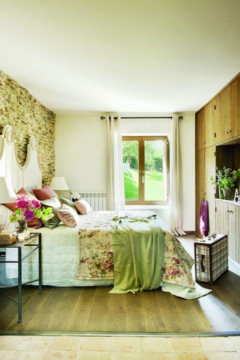 w rustykalnym stylu pokój