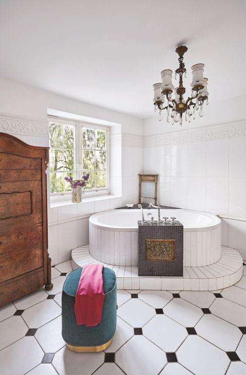 styl eklektyczny odety moro łazienka