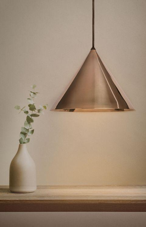 lampa wisząca z mosiądzu