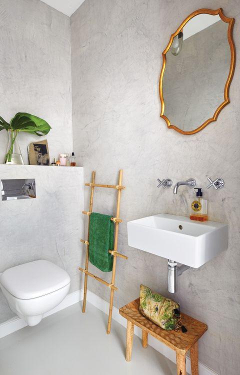 mała szara łazienka