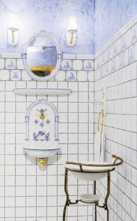 Łazienka w ulubionej kolorystyce gospodyni.
