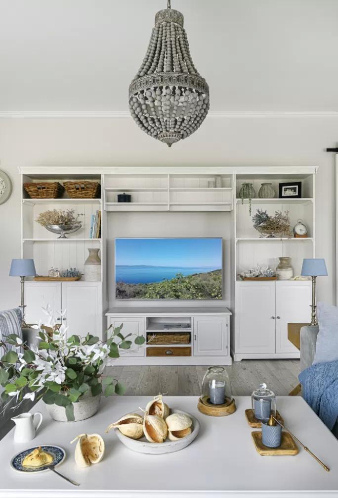 salon ze ścianą tv