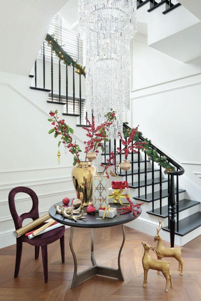 dekoracje bozonarodzeniowe holu