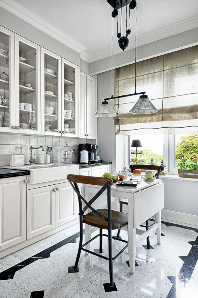 jak urządzić białą kuchnię