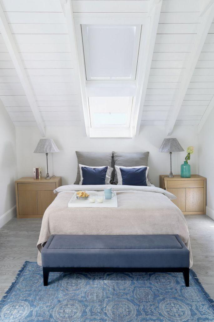 sypialnia na poddaszu kolory