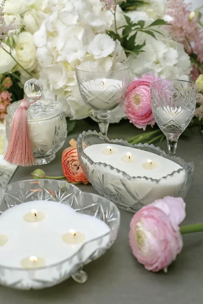 świece w kryształach malla vintage