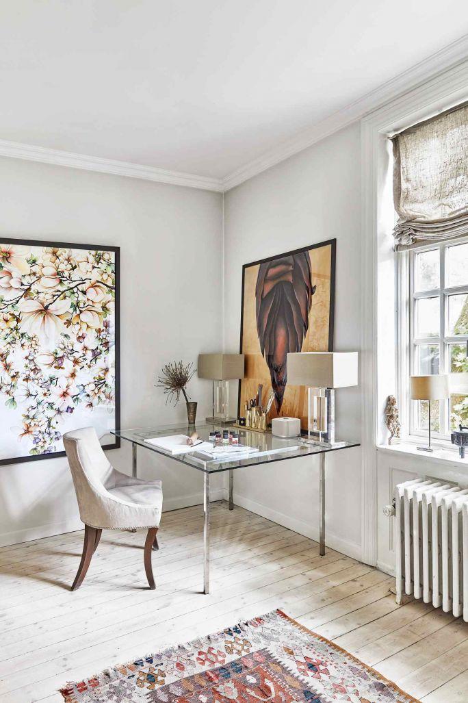 domowe biuro w stylu skandynawskim
