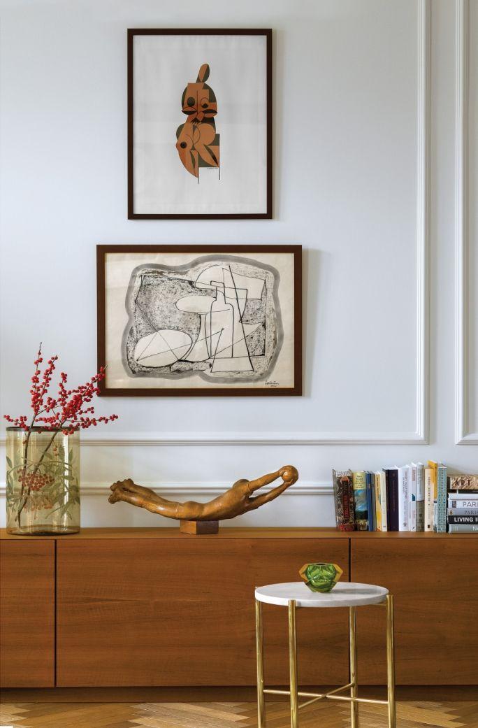 dekoracje ścian salonu obrazy i grafiki