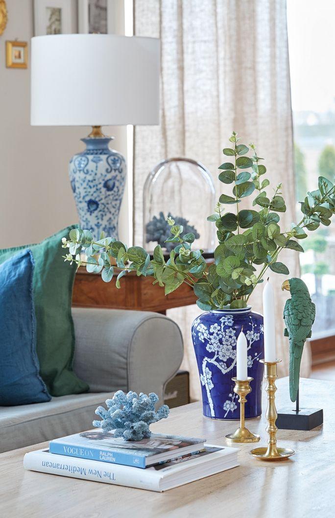 styl hampton dekoracje do salonu