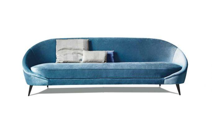 trzyosobowa sofa niebieska