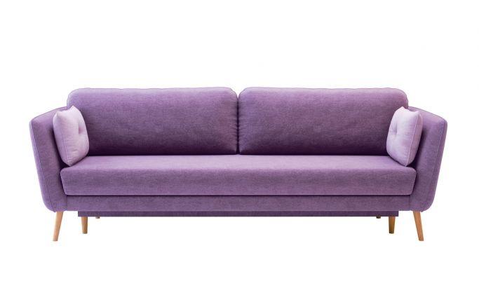 fioletowa sofa