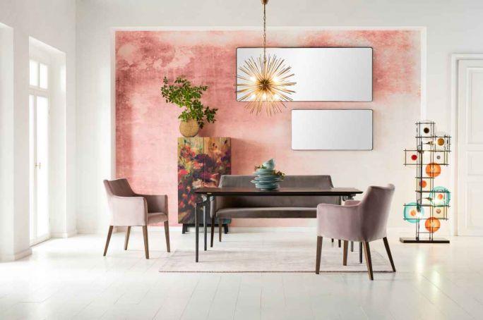modna ściana w salonie ombre