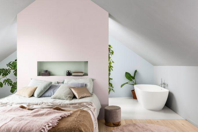 pastelowa sypialnia kolory scian