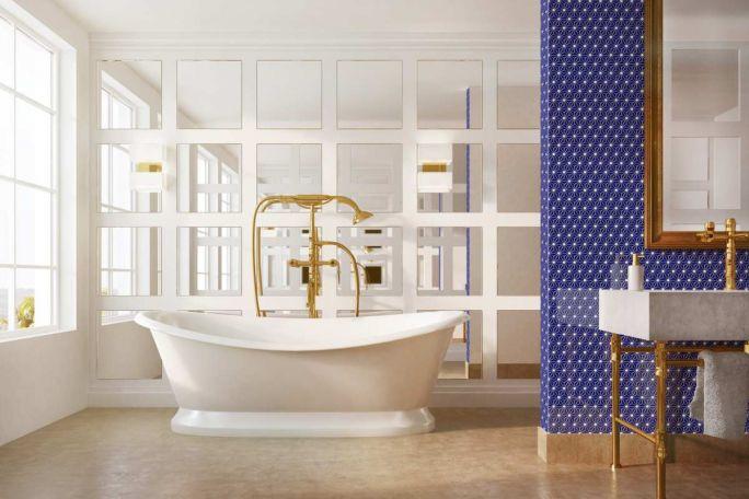 płytki do łazienki mozaika glamour