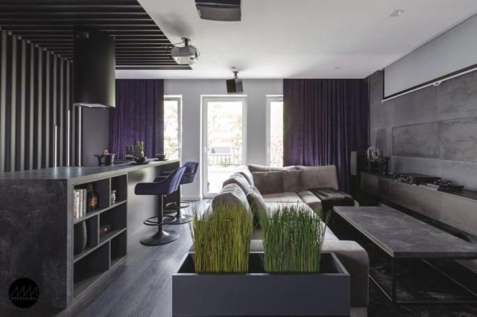 męskie wnętrze mieszkania w Poznaniu