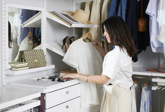 mała garderoba organizacja