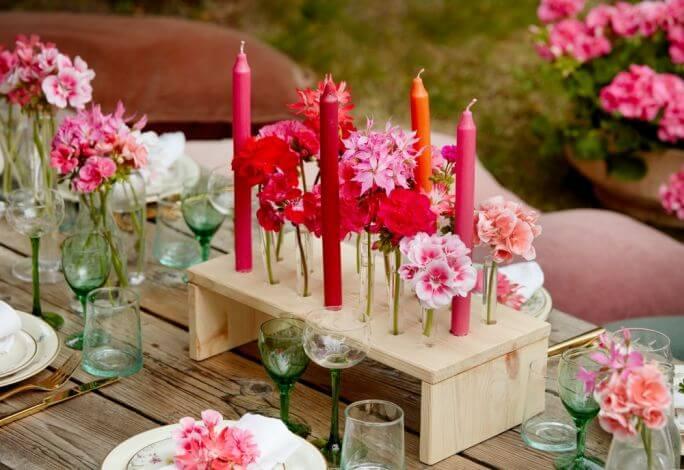 dekoracje diy na stół