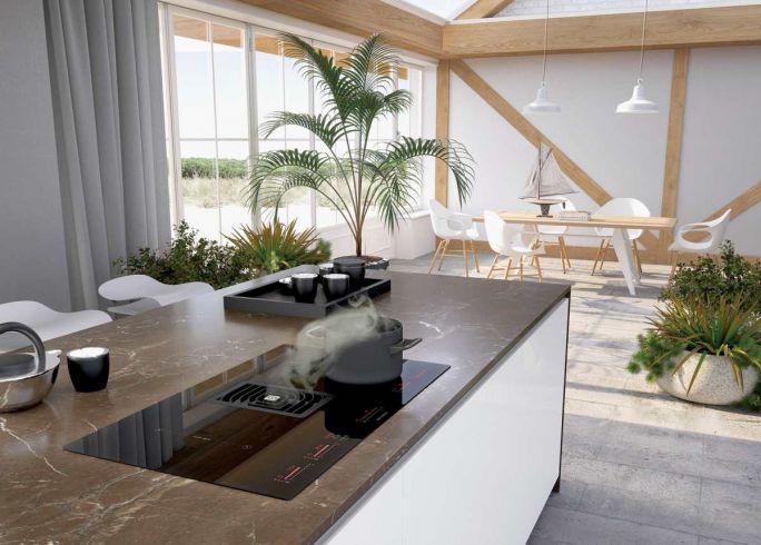 blat kuchenny na wyspie kuchennej