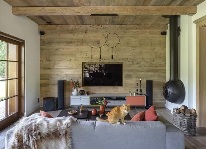 ściana z telewizorem inspiracje