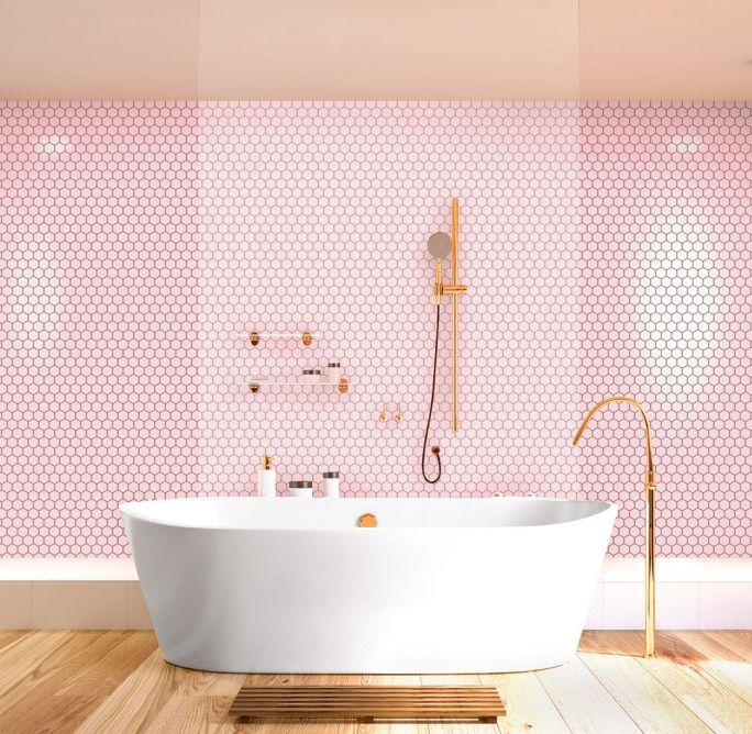 różowe płytki łazienkowe