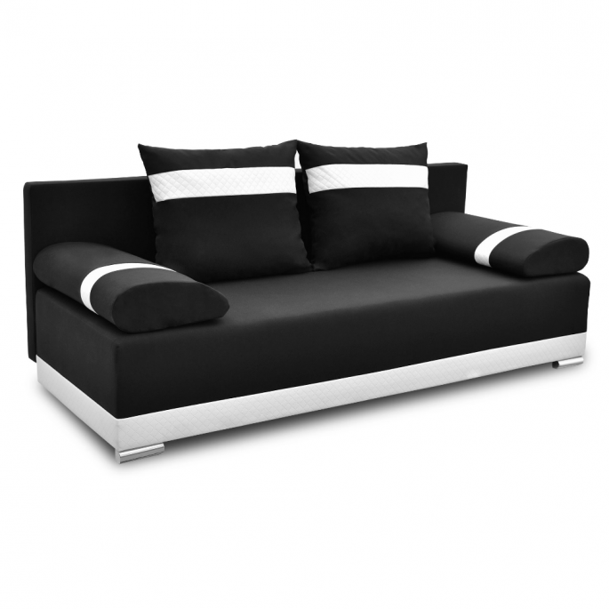 wygodna rozkładana kanapa w kolorze czarnym Orlean PLUS - bonni.pl
