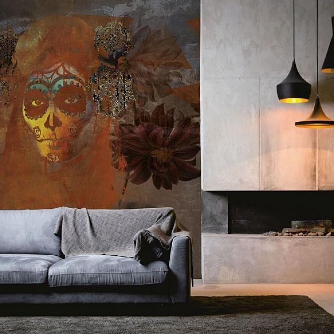 aranżacja ściany dekoracyjnej w salonie