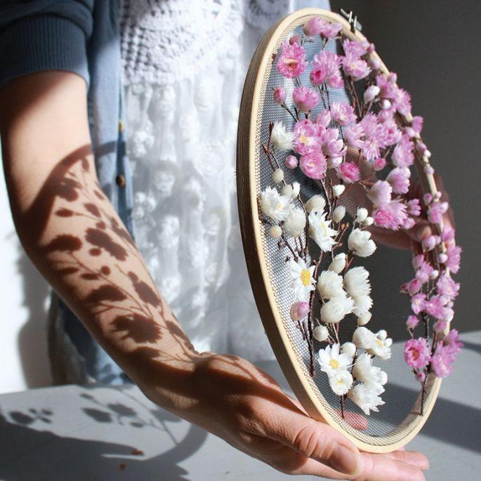 Olga Prinku haft z kwiatami