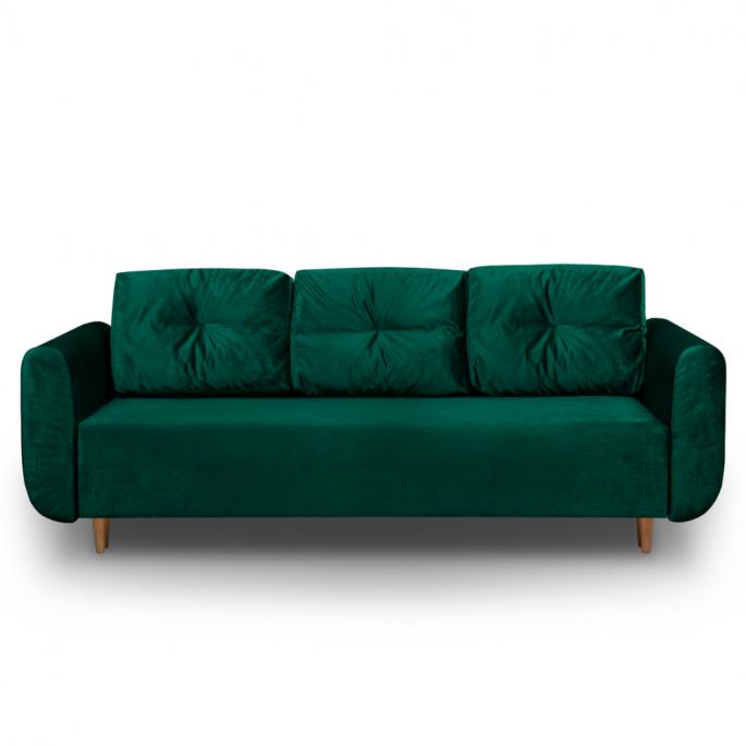 zielona sofa rozkładana sewilla PLUS - bonni.pl