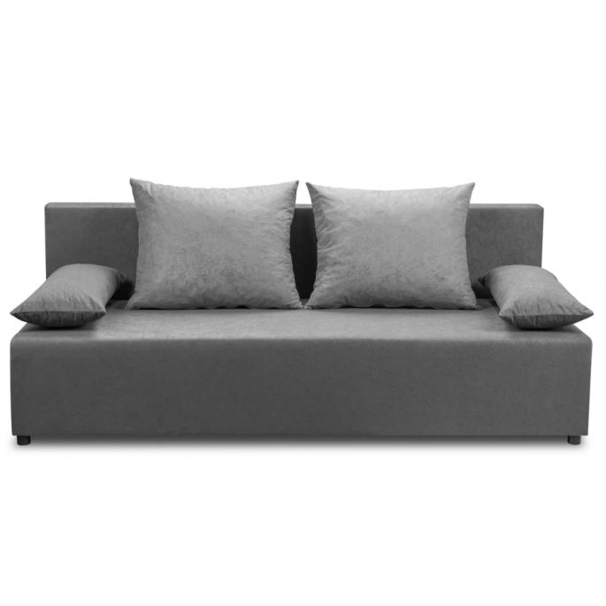 ekonomiczna grafitowa sofa z funkcją spania bs10 - bonni.pl