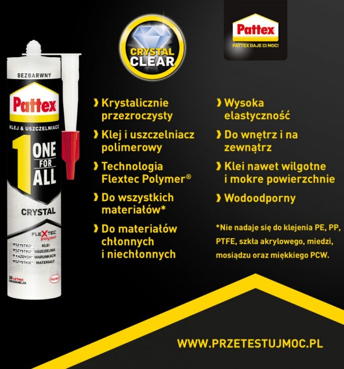 klej Pattex ONE FOR ALL Crystal