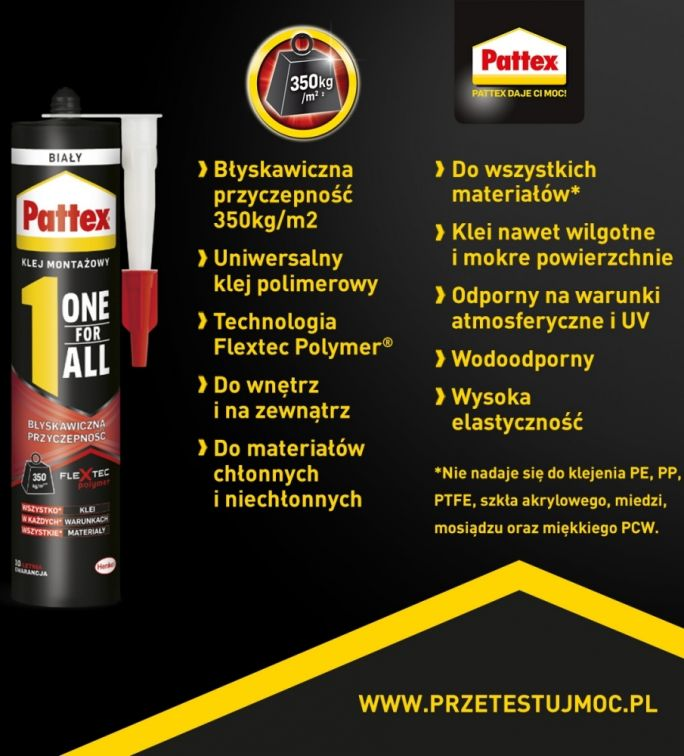 Pattex ONE FOR ALL Błyskawiczna Przyczepność