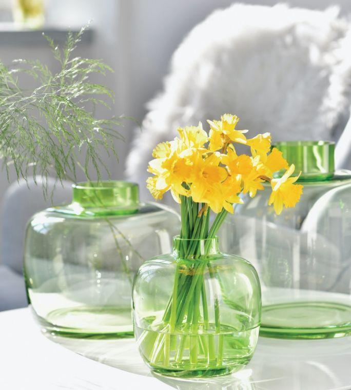 szklany wazon zielony