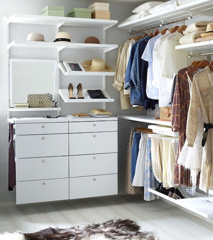 jak urządzić małą garderobę
