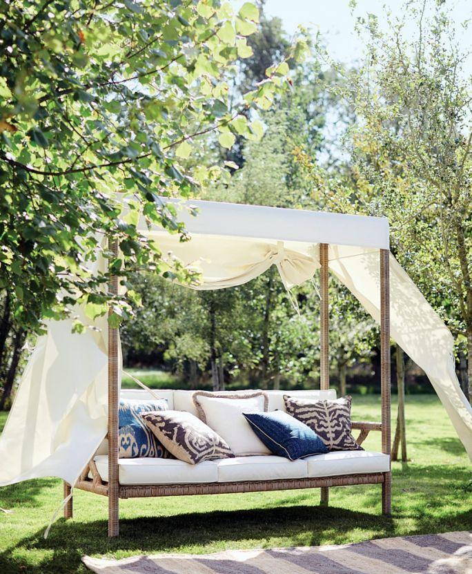 strefa relaksu w ogrodzie