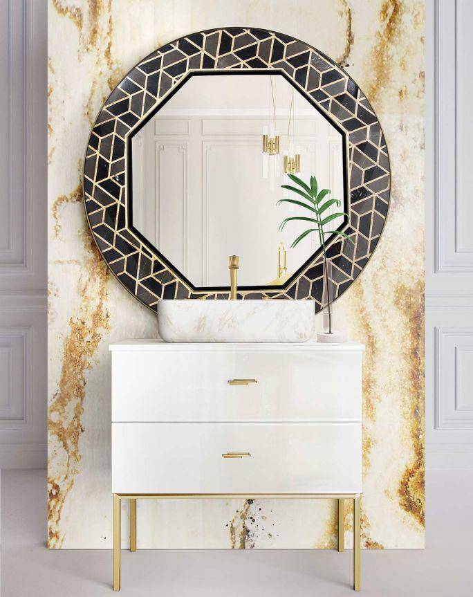 aranżacja łazienki glamour