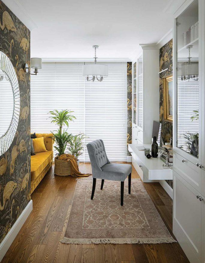 Gabinet Dariusza to najbardziej kolorowy pokój w domu.