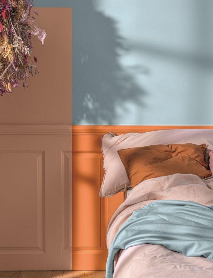 modne kolory ścian w sypialni 2021