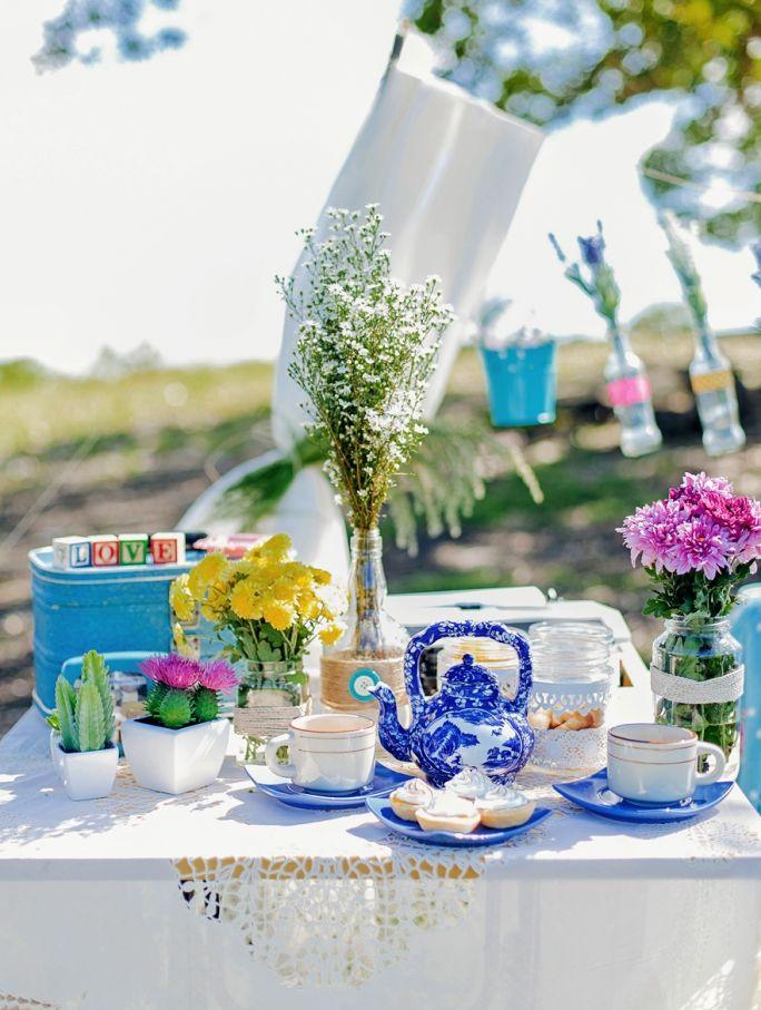 dekoracja stołu na garden party