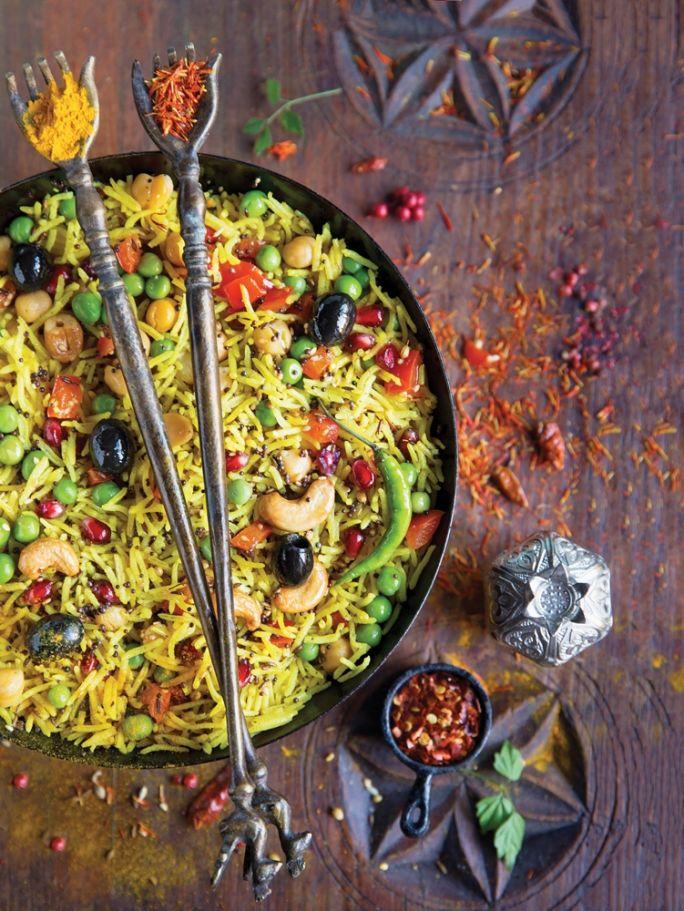 przepis na złoty ryżz warzywami