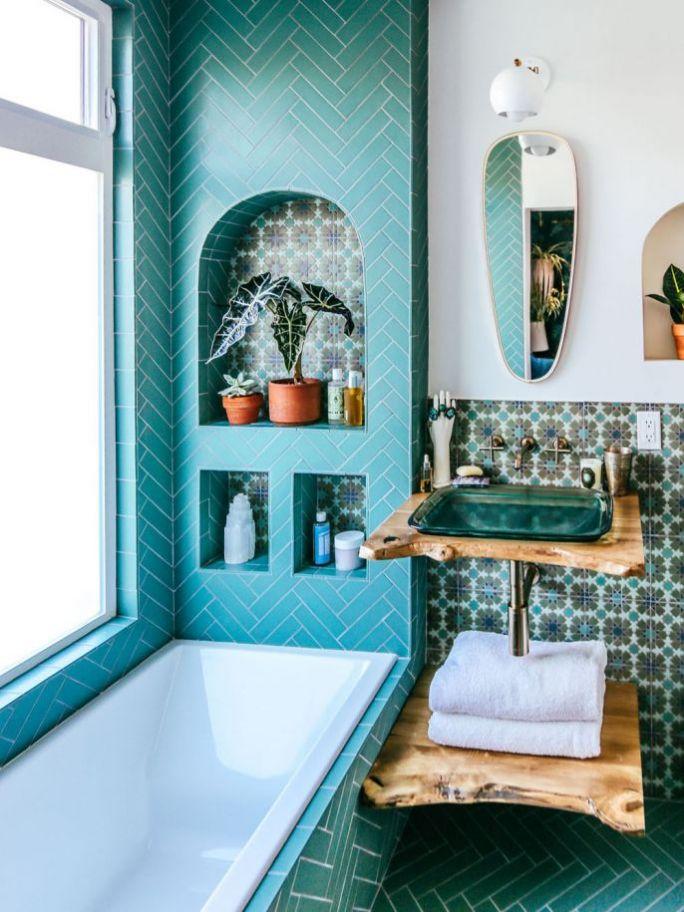 dekoracje do łazienki w stylu jungalow