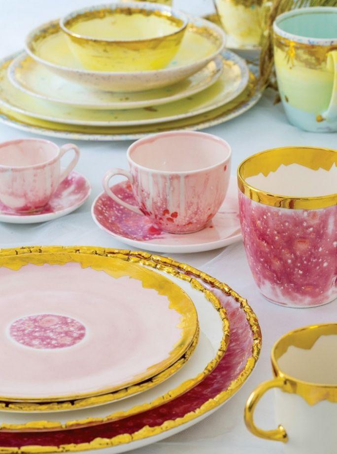 kolorowa porcelana