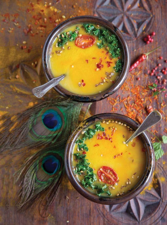 rozgrzewająca zupa z kurkumą