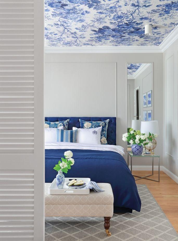 niebieska sypialnia zdjęcia