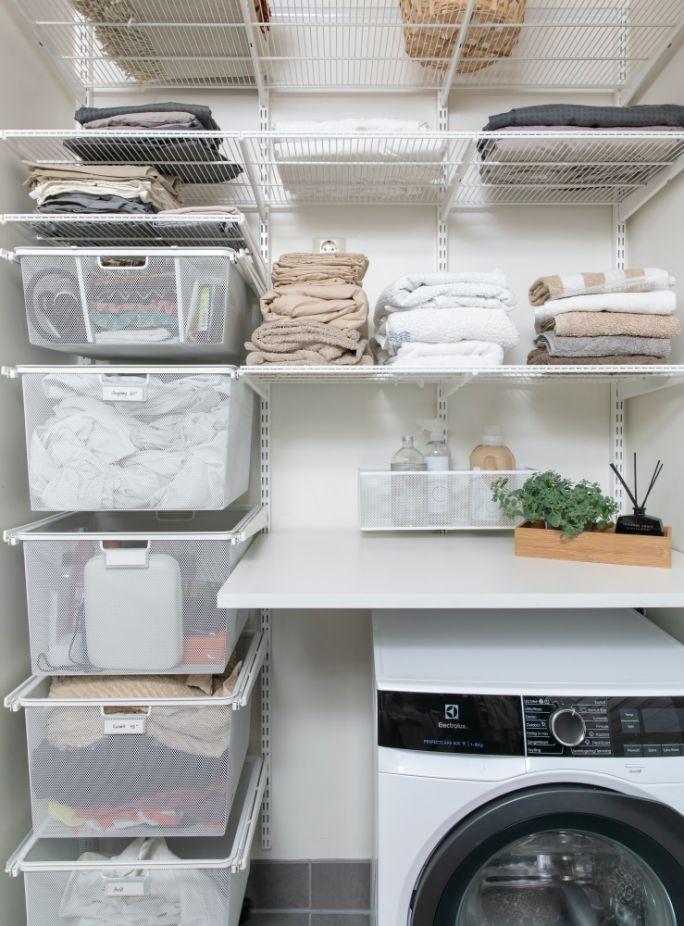 system przechowywania do pralni