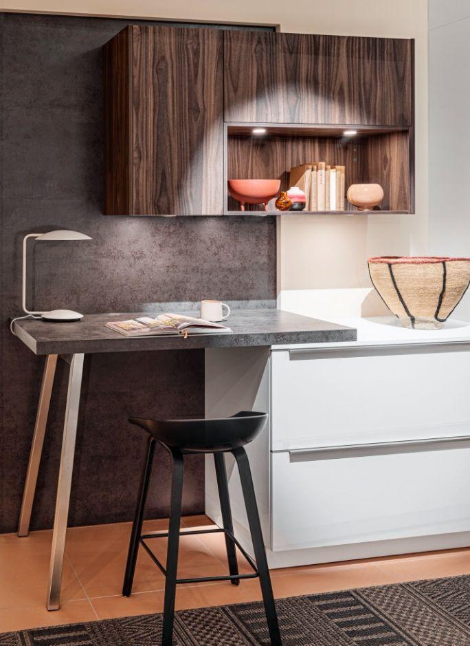 domowe biuro w kuchni aranżacje