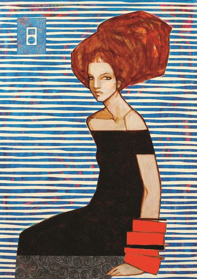 """""""Marina"""", 65 x 92 cm, akryl na płótnie"""