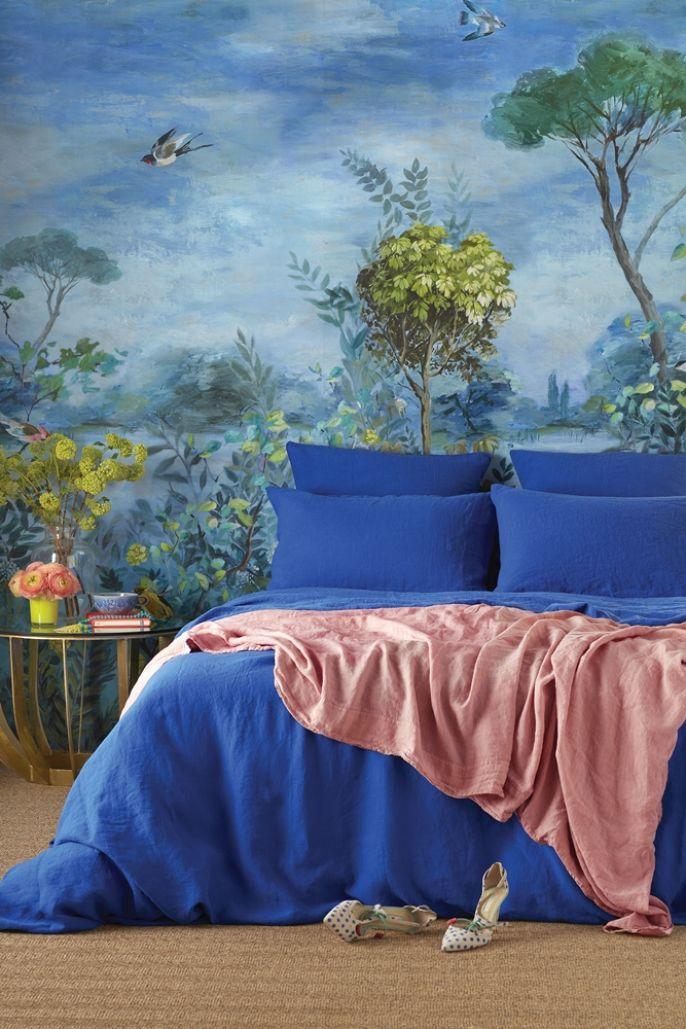 niebieska sypialnia inspiracje