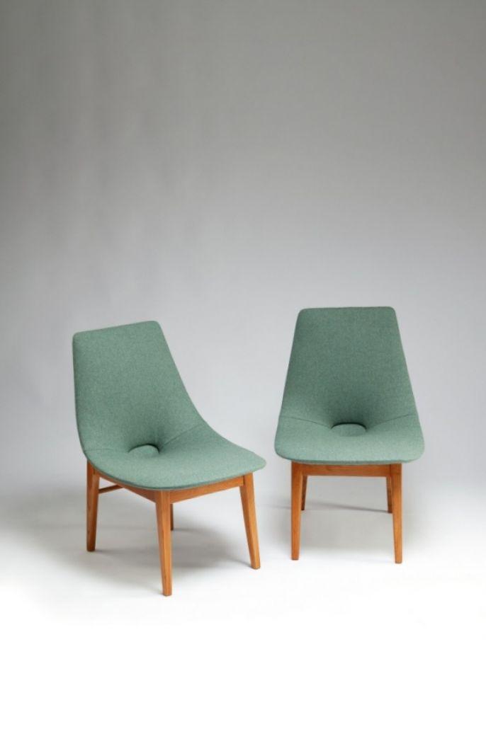 Para krzeseł Muszelka, lata 50-60. XX w, Hanna Lachert