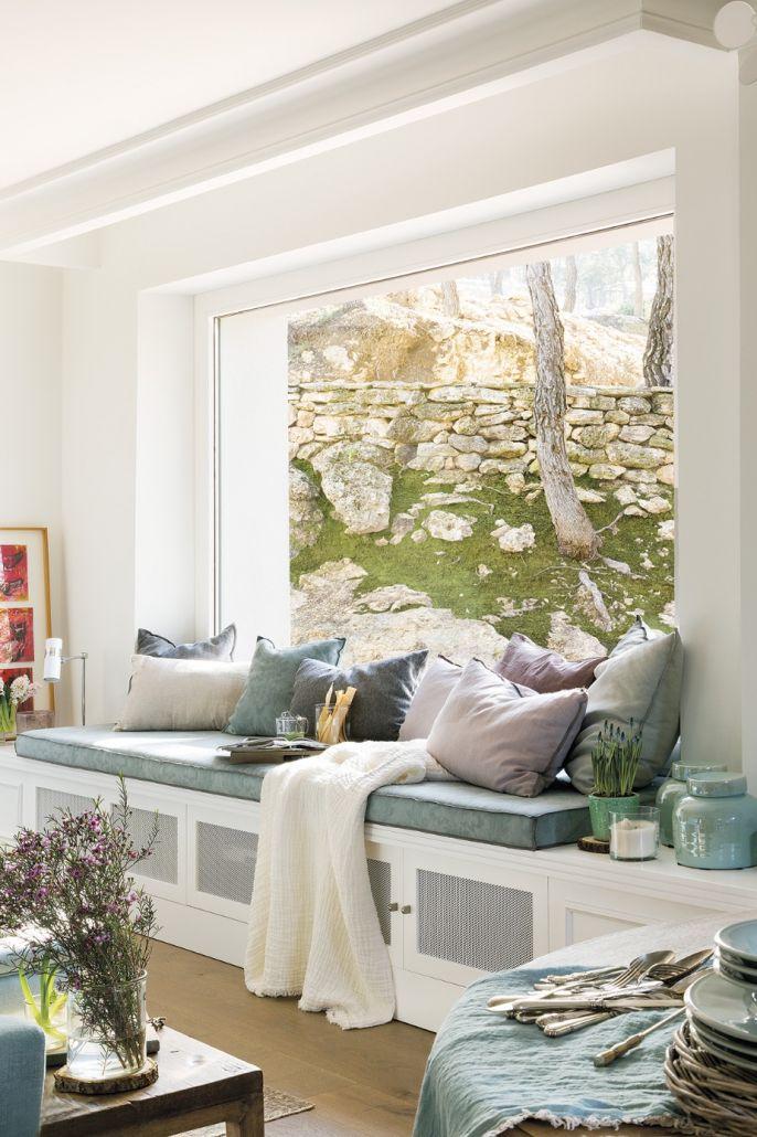 stylowy salon w kolorach ziemi z nutą rustykalną